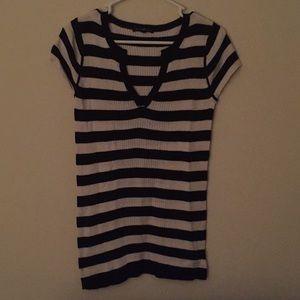 Gap Black & White Striped Sweater